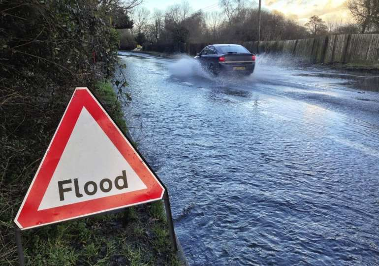 Two weeks of rain to fall today before thunder and gales lash Britain