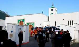 Two men aged 74 and 78 were shot and seriously injured on Monday as they tried to stop an attacker from setting a mosque ablaze in the southwestern city of Bayonne.