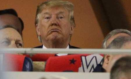 Trump booed and 'lock him up' chants at World Series
