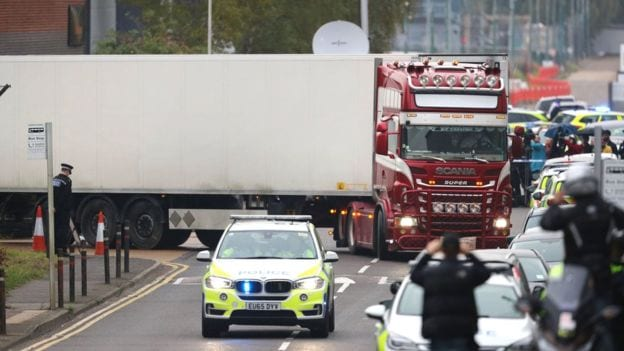 39 bodies found in Essex lorry were Chinese nationals
