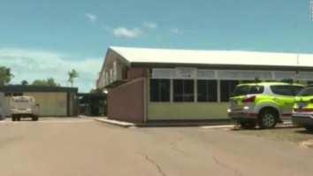 girl stabs teacher in Aust