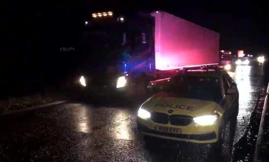 15 people found in a lorry and man arrested near Chippenham