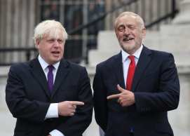 Boris and Jeremy in the Sunday papers