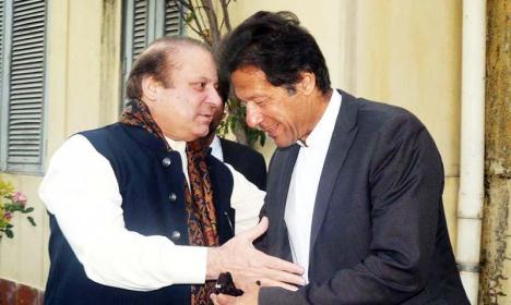 Imran Khan and Nawaz Sharif meeting in Lahore