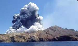 NZ volcano erpution