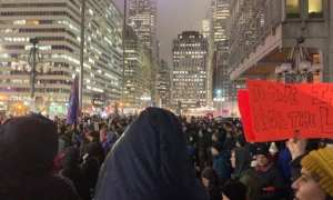 crowds gather on eve of impeachment across US