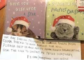 Tesco Christmas card factory denies 'forced labour'