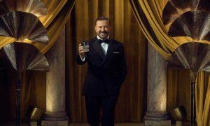 Ricky Gervais Golden Gobes duty
