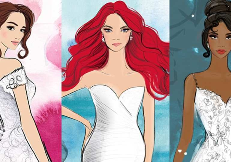 Disney teams up with Allure Bridals to create Princess Wedding dresses