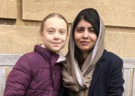 Greta meets Malala at Oxford University