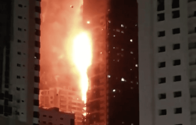 UAE: Fire erupts at residential tower in Sharjah