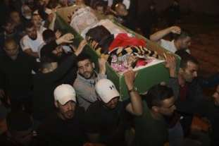 Hundreds attended Halaq's funeral