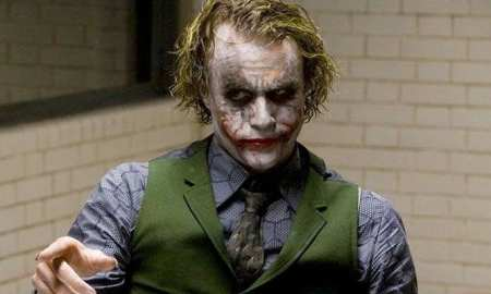 Heath Ledger as the Joker in The Dark Knight (2008)