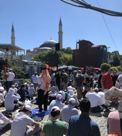 Thousand gather for the re-opening of Hagia Sofia as a Masjid and the first Jumma prayers for 86 years.