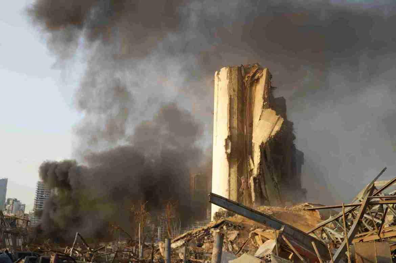 Beirut food crisis as grain silos devastated