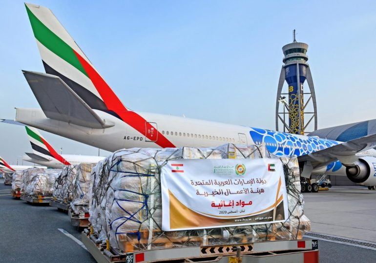 Dubai sends 24.88 tonnes of humanitarian aid to Beirut