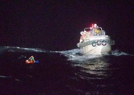 A cargo ship carrying 43 crew and thousands of cattle feared lost, Japan rescuers find one man alive