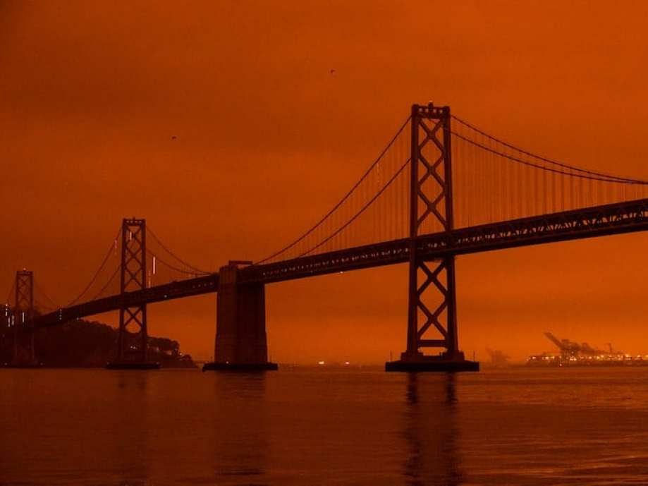 San Fran skies turn orange during California's wildfires