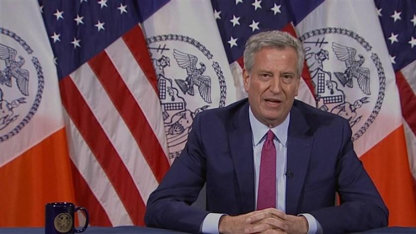 New York City's mayor, Bill de Blasio