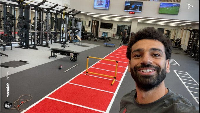 Mo Salah returns to start training for Liverpool FC at the new AXA training facility