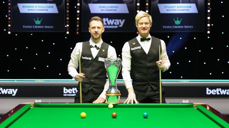 Snooker UK Championship final between Niel Robertson and Judd Trump