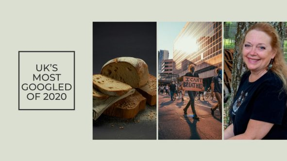 UK'S MOST GOOGLED OF 2020 Bread BLM Black Lives Matter Kobe Carole Baskin