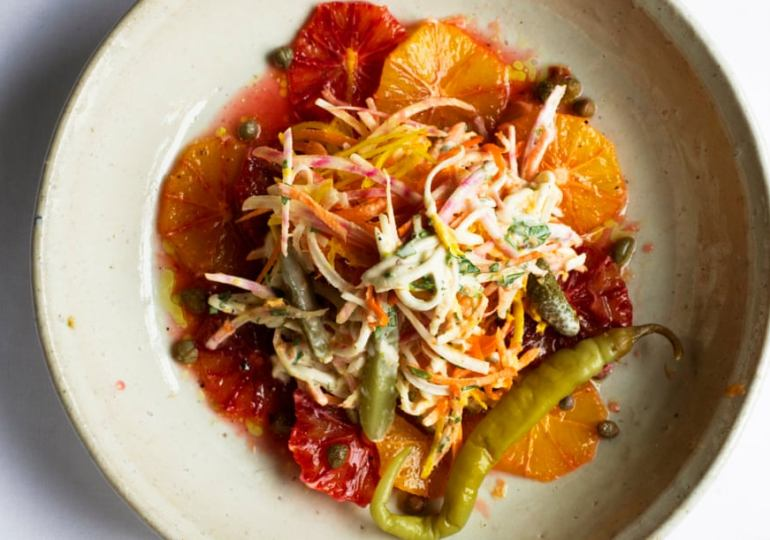 Nigel Slater's recipe for beetroot remoulade with blood orange