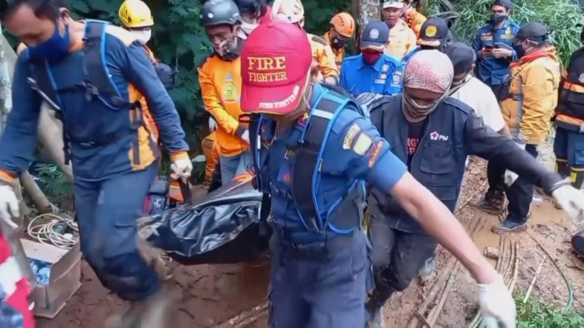 Dozens of survivors have been taken to hospital after the bus plunged into a ravine on the main island of Java near Jakarta