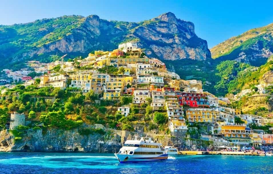 A picturesque photo of what you can expect from a view at Amalfi coast. A luxury trip to the Amalfi Coast - 12 best things to do