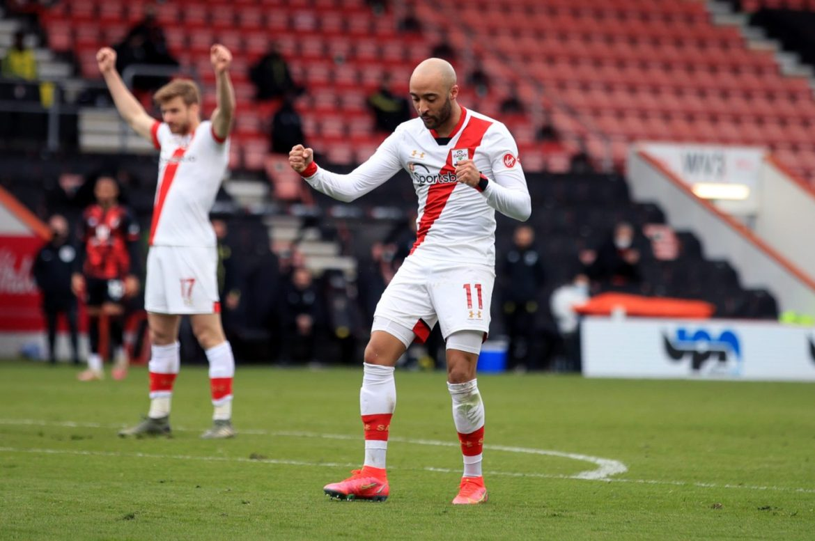 FA Cup Quarter-Final fixture between Bournemouth and Southampton - Redmond celebrates his second