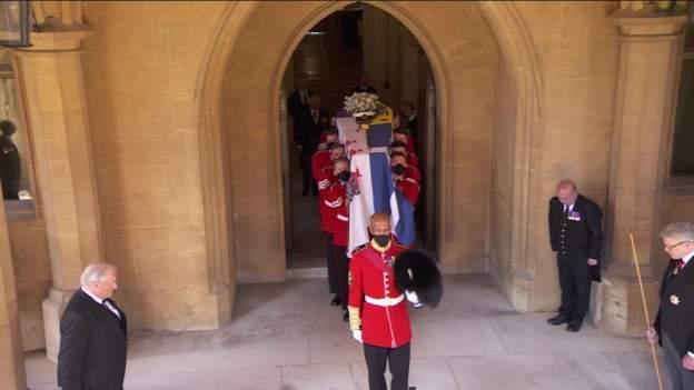 coffin arrives prince philp