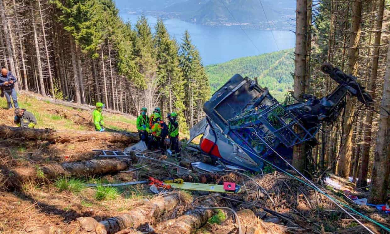 Italian Tragedy lake maggiore cable car Nine dead in Italian Cable car accident, in northern Italy