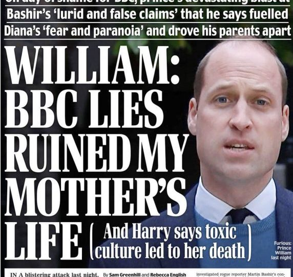 Daily Mail - Princes' 'blistering attack' & Harry 'goes nuclear'