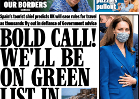 Daily Express - 'Green list in 2 weeks' as thousands travel to Spain despite advice