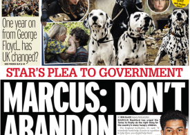 Daily Mirror - Superstar Marcus Rashford 'don't abandon hungry kids'