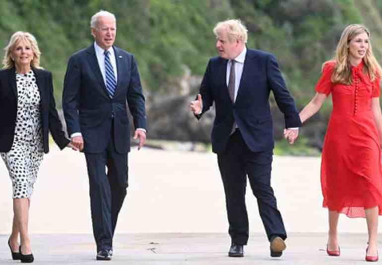 Boris Johnson and Joe Biden try to copy Winston Churchill and FDR as they agree 'Atlantic Charter'
