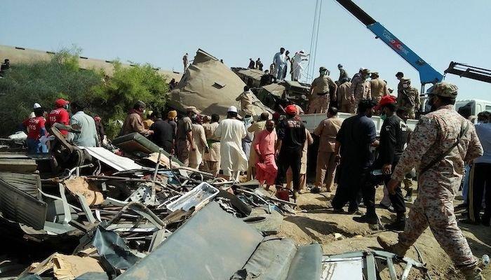 LIVE: Pakistan train crash kills 35 people - hundreds injured