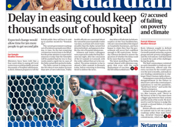 The Guardian - Delay in easing could keep thousands out of hospitals