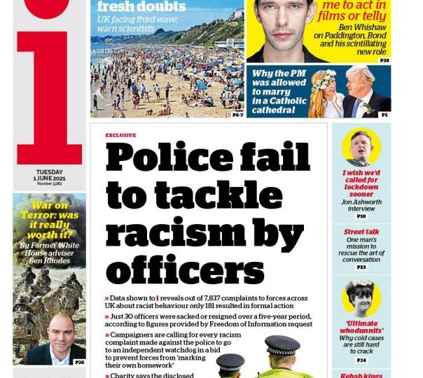 The i - Police fail to tackle racism by officers - more than 7,800 complaints