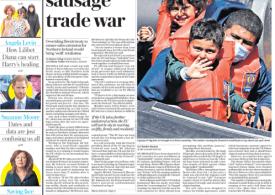 The Daily Telegraph - Europe threatens sausage trade war