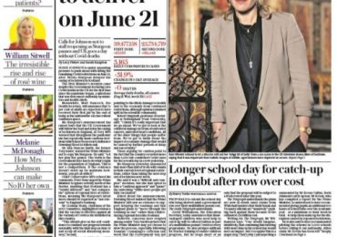 The Daily Telegraph - PM under pressure to deliver on 21 June