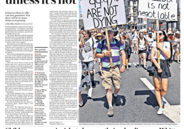 The Telegraph - It's definitely July 19 … unless its not