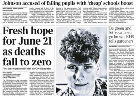 The Times - Zero deaths ignite fresh hope for 21 June easing