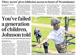 The Times - Boris Johnson rejected school catch up tsar's £15bn proposal