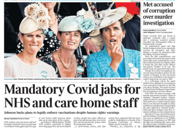 The Times - Mandatory COVID-19 jabs for care home staff