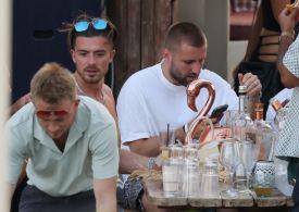 England Euro 2020 heroes Jack Grealish and Luke Shaw enjoy party on holiday in Mykonos