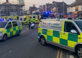 Six injured after car ploughs into pedestrians outside pub in South Wales