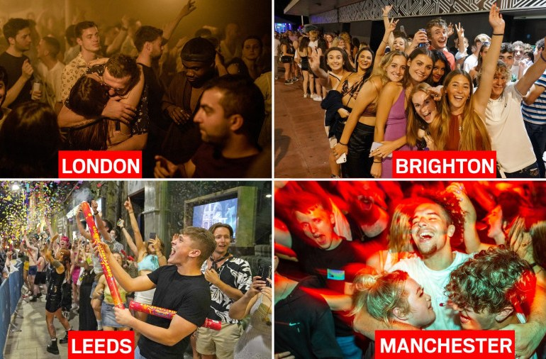 Nightclubs reopen their doors for the first time since March 2020