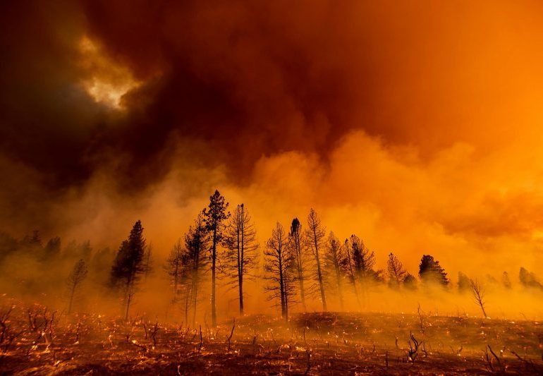 Hot winds fuel major Oregon wildfire as evacuations continue