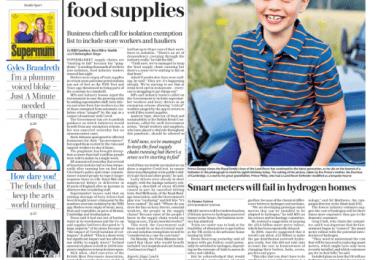 Telegraph - Pingdemic disrupts supermarket food supplies